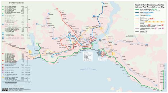 Сеть общественного транспорта в Стамбуле - Tvoygid.com